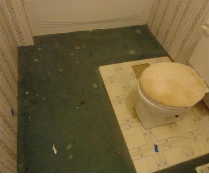 water damaged bathroom
