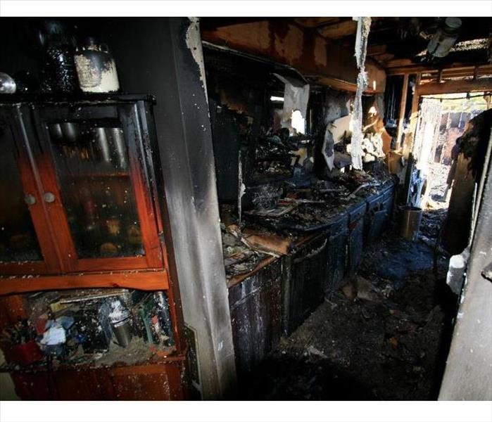 kitchen that was destroyed by fire