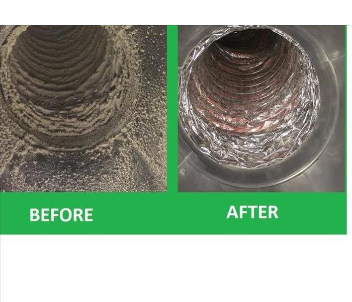 a before and after of a ventilation system